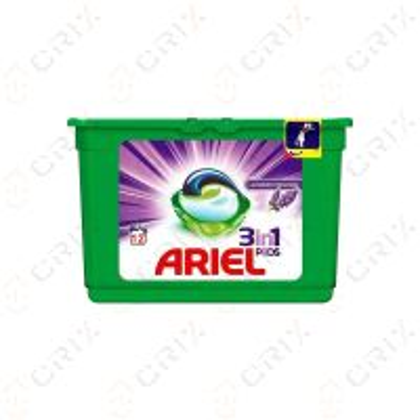 Ariel 3 in 1 capsule Detergent rufe automat, lavanda, 12 buc