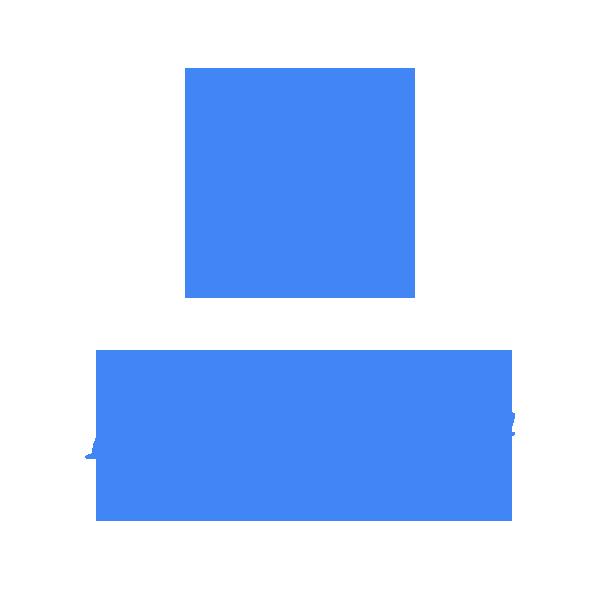 Scaunel plastic copii de gradinita, albastru